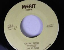 Country 45 Texas Bs Band - Runaway Fiddle / The Pussy Cat Song On Merit Records