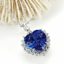 Stunning Titanic The Heart of the Ocean Crystal Rhinestone Pendant Necklace Gift