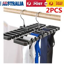 2pcs Men Plastic Belt Scarf Rack Organizer Neck Tie Hanger Holder Organizer OZ