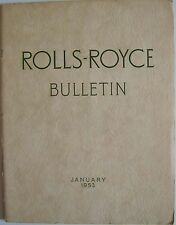 Rolls Royce Bulletin Jan. 1953 Main article on The Avons of England