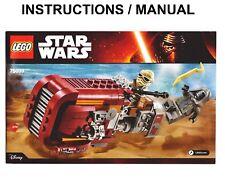 Lego Star Wars 75099 Rey's Speeder INSTRUCTIONS ONLY