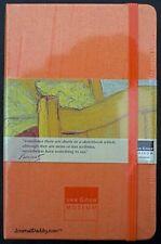 Moleskine Orange Silk Shantung Lined Notebook Van Gogh Museum Circa 2002 Mint