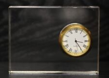 """New Clear Acrylic Desk Clock with Classic Roman Numeral Face 4"""" x 3"""""""