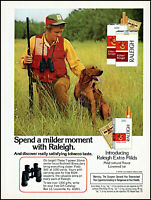 1974 Bird Dog Hunter smoking Raleigh cigarettes vintage photo print ad ads4