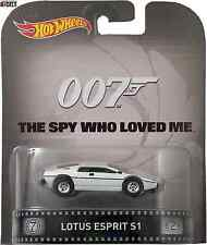 LOTUS ESPRIT S1 007 THE SPY WHO LOVED ME Hot Wheels Die Cast 1/64 New Nuovo