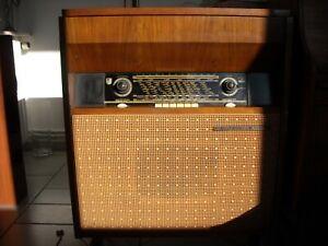 meuble vintage radio + tourne disques La voix de son maître