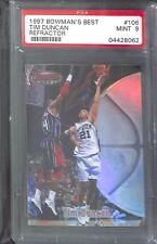 1997-98 Bowman's Best Refractor #106 Tim Duncan PSA 9