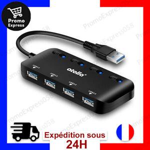 Atolla Hub USB 3.0 Multiprise, Multi 4 Ports USB Multiple Ultra Fin avec Voyants
