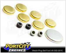 Welch Welsh Brass Core Plug Kit Set for Ford V8 302 351 Cleveland WPK-F351C