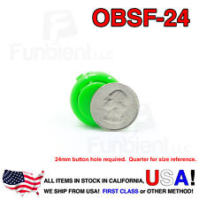 Sanwa OBSF-24 - GREEN Momentary  Push Button JAMMA guitar killswitch 24mm MAME