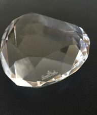 Rosenthal Signed Clear Faceted Crystal Paperweight Original Box 3.5""