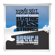 Ernie Ball 2804 Stainless Steel Flatwound Bass Guitar Strings 50-105 Group II