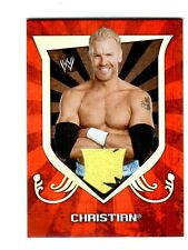 WWE Christian 2011 Topps Classic Event Worn Shirt Relic Card Yellow & Black