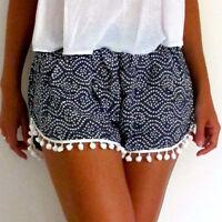 2017 Summer Women's High Waist Tassel Casual Short Shorts Ladies Beach Hot Pants