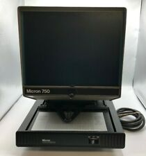 MICRON 750, 120V MICROFICHE READER WITH SUPERB OPTICAL EXTENDED LAMP LIFE