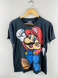 2012 Super Mario Men's Vintage Short Sleeve Crew Neck T Shirt Size M Black