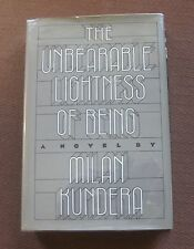 THE UNBEARABLE LIGHTNESS OF BEING by Milan Kundera - 1st/1st HCDJ 1984 - VG+