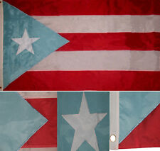 3x5 Embroidered Light Blue Puerto Rico Puerto Rican 210D-S Nylon Flag 3'x5'