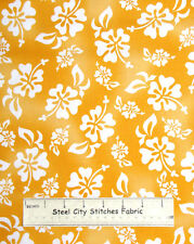 Loralie Harris Designs Hula Girls Hybiscus Floral Sunshine Cotton Fabric YARD