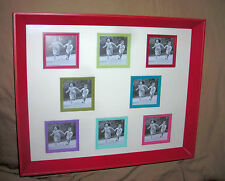 Astor Lane  FRAME  wood red  collage  holds  eight  3 x 3 inch  pictures     new