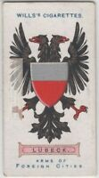 Lubeck Coat Of Arms Germany Hanseatic League 100+ Y/O  Ad Trade Card