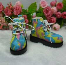 MSD DOC 1/4 Bjd Sasha Obitsu 60cm Bjd Doll Boots High Hill Shoes Colorful Sky