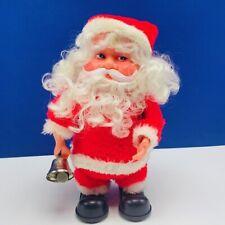 Santa Claus vintage battery operated figure toy jingle bells vtg mcm holiday elf