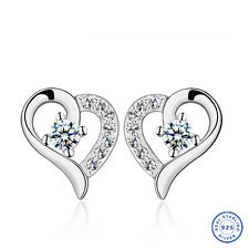 925 Sterling Silver earring CZ Cubic Zirconia clear crystal DLE33