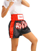 Women Boxing Shorts Lady Girls Muay Thai Kick Trunks Satin Fighting MMA M-3XL AU