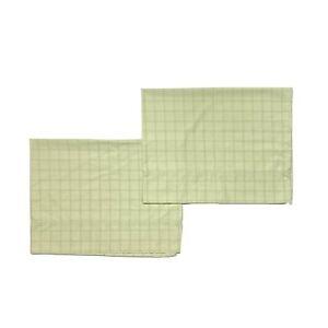 Martha Stewart Discontinued Green Plaid Pillowcases Shams Grid Print Luxury HTF