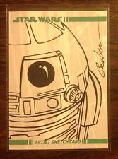 R2 D2 Topps Star Wars Clone Wars sketch card 1/1 Kevin Graham