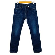 MADE AND CRAFTED LEVIS Men's Dark Blue Tack Slim Jeans 29W 32L (J1)