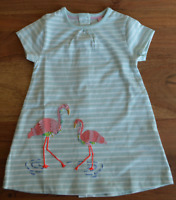 NEW Beautiful ex Baby Boden Flamingo Applique Dress 0 to 4 Years