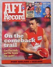 1999 AFL RECORD PROGRAM Paul Kelly  Port Adelaide Vs Geelong