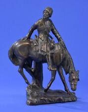 Bronzeskulptur russisches Motiv Bronze Figur Kosake zu Pferd