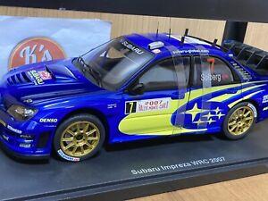 AUTOart 1:18 Subaru Impreza 80790 WRC 2007 P.Solberg #7 Monte Carlo Rally Blue