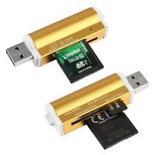 All in One Aluminium Multi Card Reader SDHC SDXC Micro SD Memory Stick SV