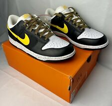 quality design 14613 14320 germany nike dunk low cl 318020 071 black varsity maize white shoes size 11  deadstock 71990