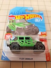 Hot Wheels 2018 '17 Jeep Wrangler Green Hot Trucks