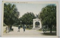Savannah Georgia Entrance to Colonial Park Postcard H1