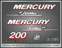 Mercury 200hp Optimax Decal Kit - Outboard Engine Replacement Die-Cut Stickers