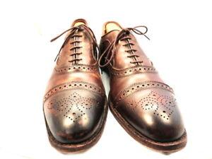 """Allen Edmonds Men's Shoes """"Strand"""" Cap-toe Oxfords Cigar 11.5 D (184)"""
