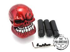 Universal Rojo cráneo resina Gear Knob palo Universal VW Volkswagen Ford Custom