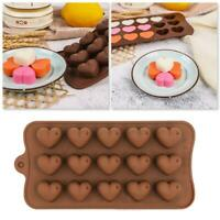 Love Heart Shaped Tray Chocolate Ice Jelly Silicone Mould New