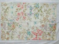 1 Vintage Asian Pagoda Butterfly Bird Floral Pillow Case Queen Pastel 33 x 21