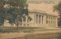 COLUMBUS OH – Ohio State University Archaeological Museum –Hand Colored Postcard