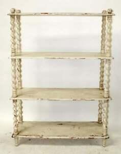 Guildmasters White Distressed Book Shelf Barley Twist Display Divider