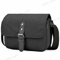 Black Soft Compact Sling Camera Bag Single Shoulder for Canon Nikon Sony DSLR