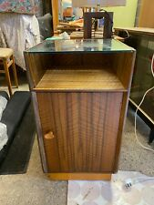 Vintage Mid Century Wylie & Lochhead Wooden Cabinet Cupboard with Glass Top