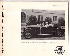 Pierce Arrow Society Vol 78 No 4 - 1923 Specifications and Dimensions; Series 33